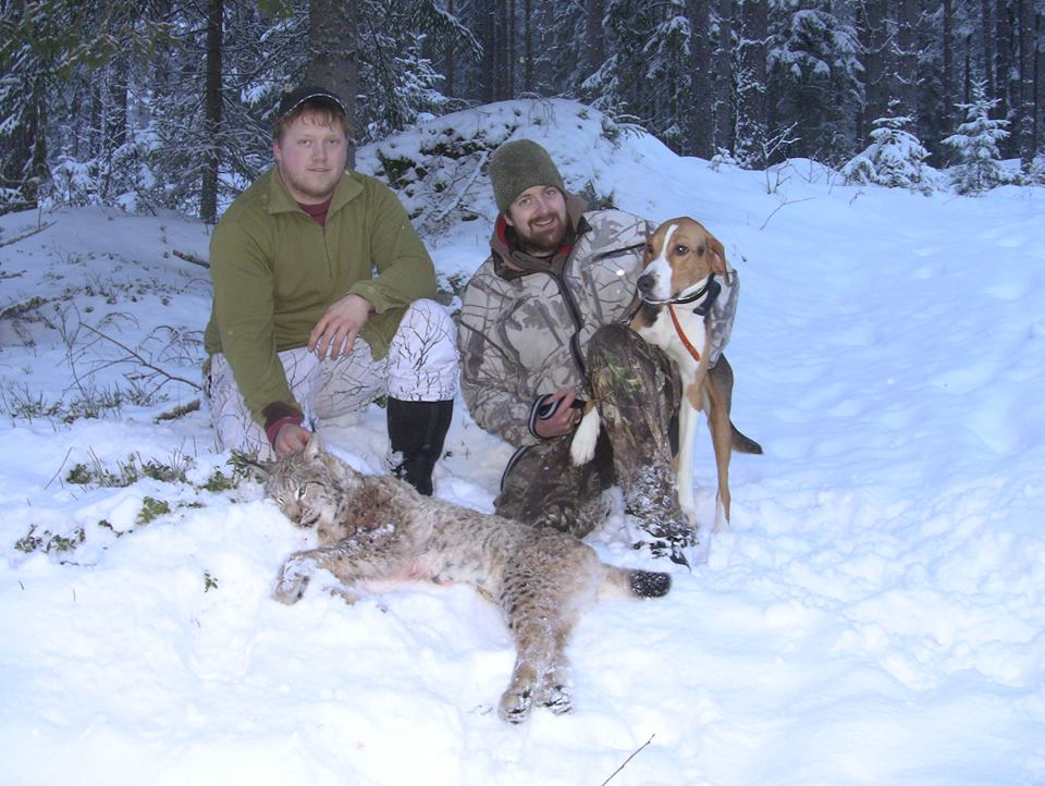 Knut Halvor med Gaupe og Simen
