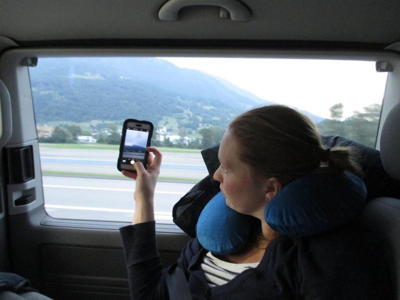 Anja tar bilde av Lichtenstein